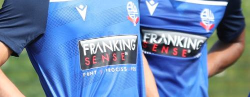 Franking Sense sponsors Bolton Wanderers FC Training Wear