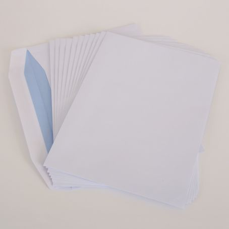 C4 white non-window gummed mailing wallet envelopes (Pack of 1,000)