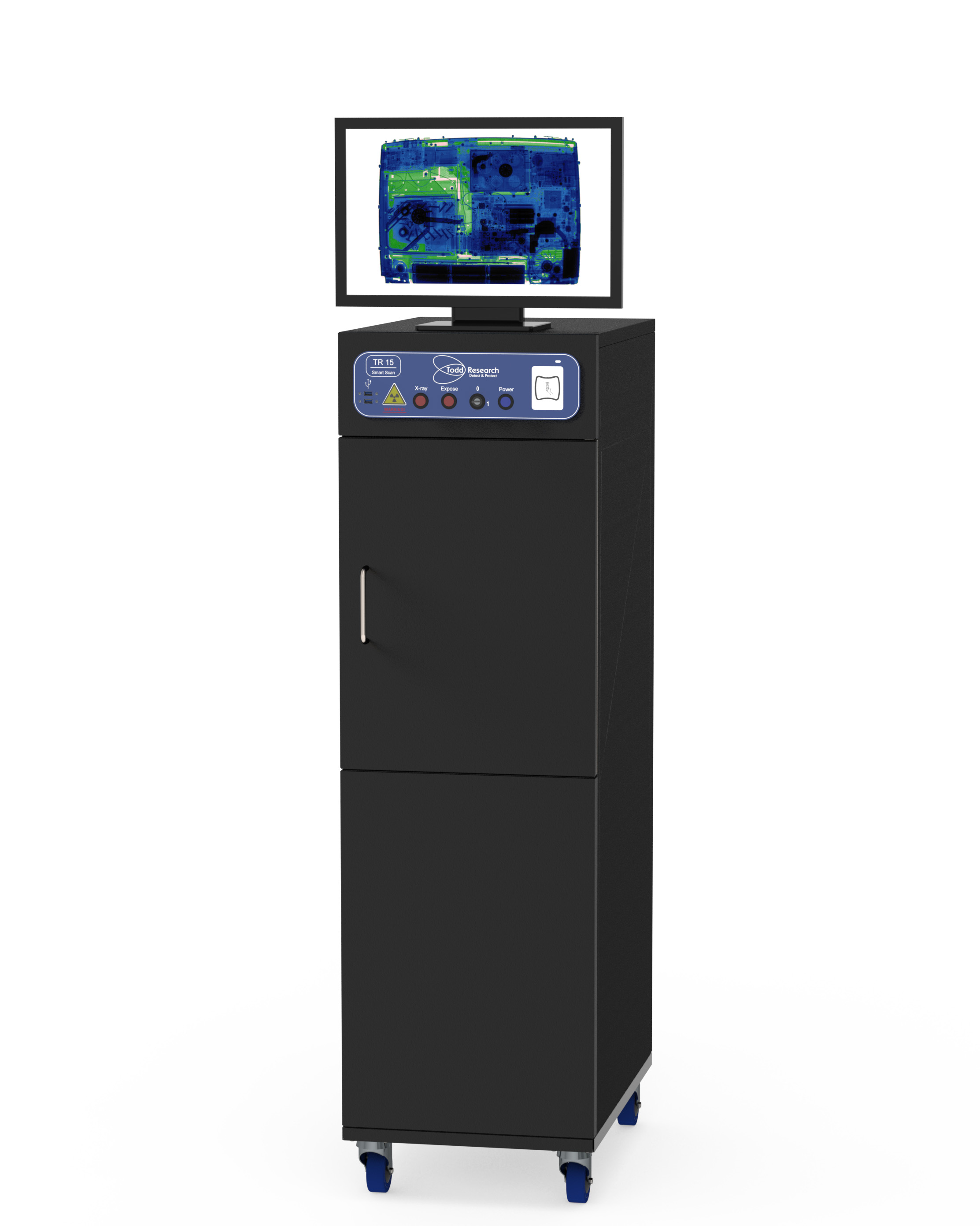 Cabinet postal x-ray scanners