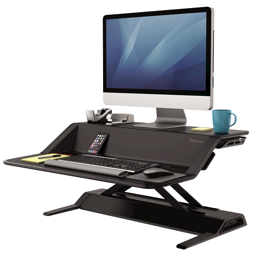Fellowes Lotus™ Sit-Stand Workstation - Black