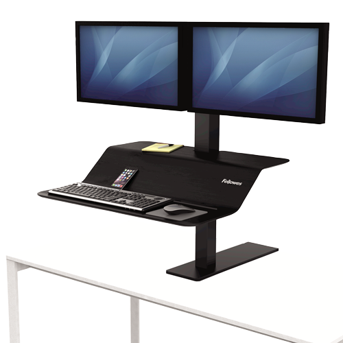 Fellowes Lotus™ VE Sit-Stand Workstation – Dual