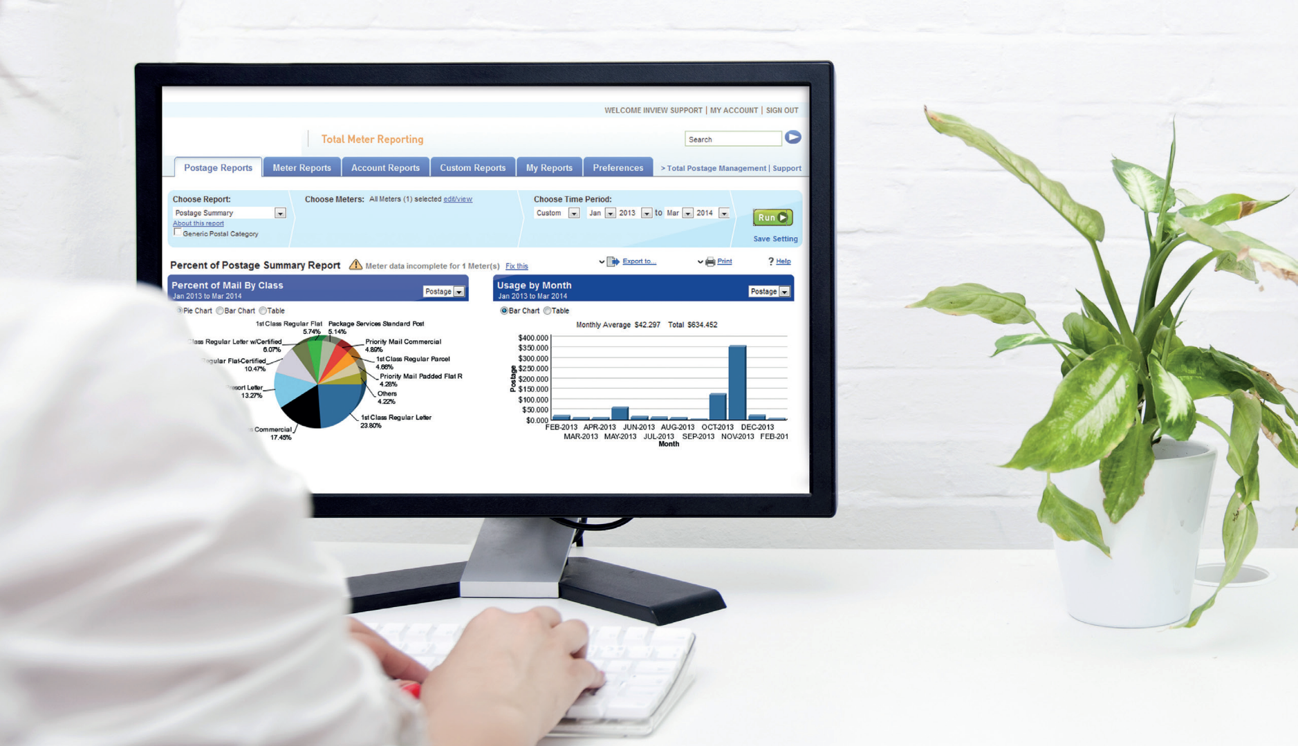 Mail accounting software