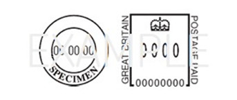 Royal Mail standard franking indicia